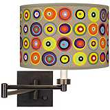 Marbles in the Park Giclee Shade Plug-In Swing Arm Wall Light