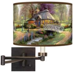 Thomas Kinkade Friendship Cottage Plug-In Swing Arm Wall Light