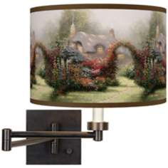 Thomas Kinkade Glory of Morning Plug-In Swing Arm Wall Light