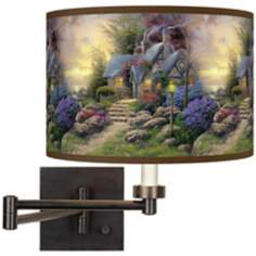 Thomas Kinkade Seaside Hideaway Plug-In Swing Arm Wall Light