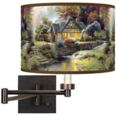 Thomas Kinkade Stillwater Cottage Plug-In Swing Arm Wall Light
