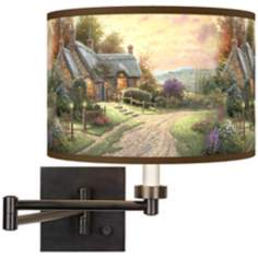 Thomas Kinkade A Peaceful Time Swing Arm Wall Light