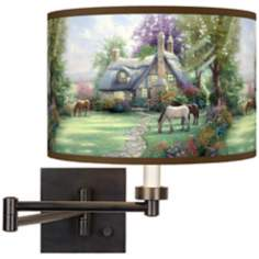 Thomas Kinkade A Perfect Summer Day Swing Arm Wall Light