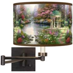Thomas Kinkade The Garden of Prayer Swing Arm Wall Light