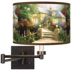 Thomas Kinkade Hollyhock House Swing Arm Wall Light