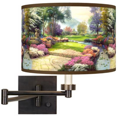 Thomas Kinkade Living Waters Golfer's Paradise Wall Light
