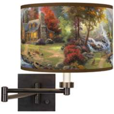 Thomas Kinkade Mountain Paradise Swing Arm Wall Light