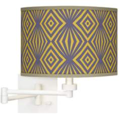 Deco Revival Giclee White Swing Arm Wall Light