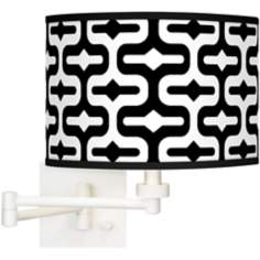 Reflection Giclee White Swing Arm Wall Light