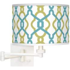Hyper Links Giclee White Swing Arm Wall Light