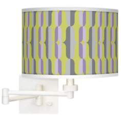 Side By Side Giclee White Swing Arm Wall Light