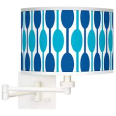 Jet Set Giclee White Swing Arm Wall Light