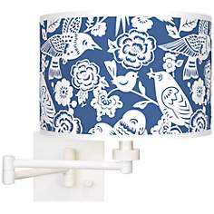 Seedling by thomaspaul Aviary White Swing Arm Wall Light