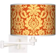 Stacy Garcia Harvest Florence Giclee White Swing Arm Wall Light