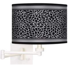 Stacy Garcia Metropolitan Dahlia White Swing Arm Wall Light