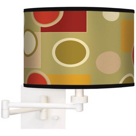 Retro Citrus Medley Giclee White Swing Arm Wall Lamp