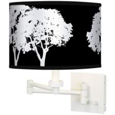 Stacy Garcia Forest Black Giclee White Swing Arm Wall Light