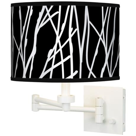 Stacy Garcia Twiggy Black Giclee White Swing Arm Wall Light