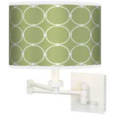 Spring Interlace Giclee White Swing Arm Wall Light