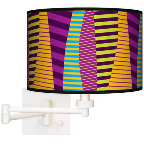 Mambo White Plug-In Swing Arm Wall Light