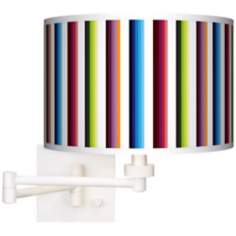 Technocolors White Plug-In Swing Arm Wall Light