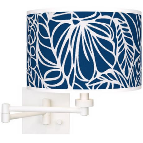 Jungle Rain Giclee Plug-In Swing Arm Wall Light