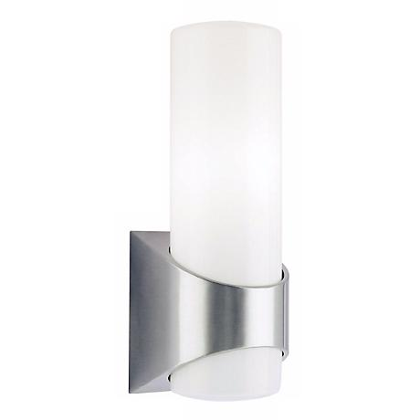 "Kichler Brushed Aluminum 13 1/2"" High Outdoor Wall Light"