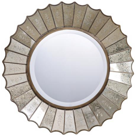 "Uttermost Amberlyn Round 32"" Wide Wall Mirror"