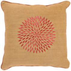 Gold and Rust Jute Blend Pillow