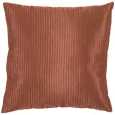 Dark Rust Polyester Pillow