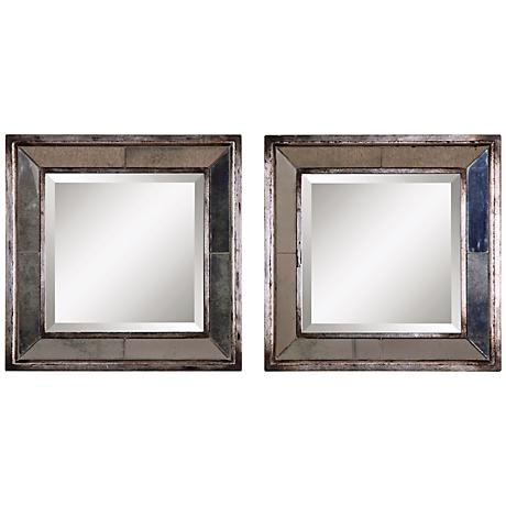 Uttermost Set of Two Davion Squares Wall Mirrors