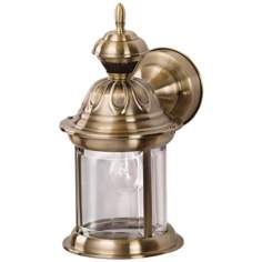 Bridgeport Antique Brass Motion Sensor Outdoor Wall Light