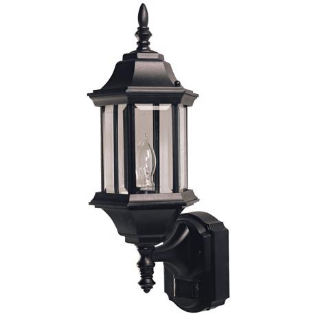 Pleasant Hill Black Motion Sensor Outdoor Wall Light
