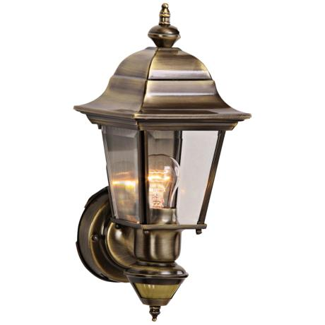 Artisan Antique Brass Outdoor Motion Sensor Wall Light