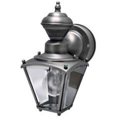 Mini Coach Silver Pewter ENERGY STAR® Outdoor Wall Light