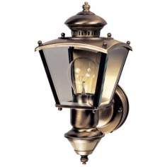 Charleston Coach Antique Brass Motion Sensor Outdoor Light