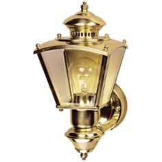 Charleston Coach Polished Brass Motion Sensor Outdoor Light