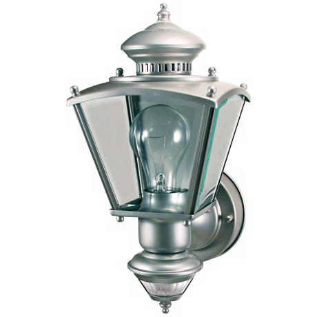 Charleston Coach SilverMotion Sensor Outdoor Light