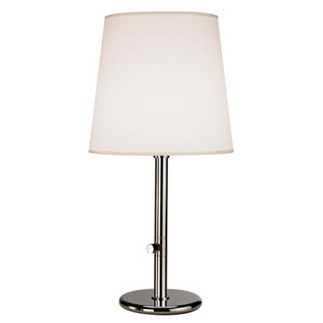 Robert Abbey Polished Nickel with Fondine Shade Table Lamp
