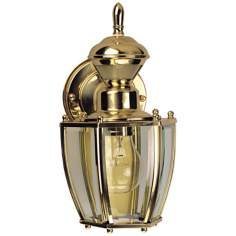Traditional Coach Polished Brass Motion Sensor Outdoor Light