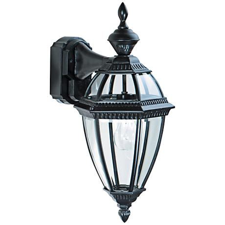 "Heritage Black 21"" Dusk to Dawn Motion Sensor Outdoor Light"