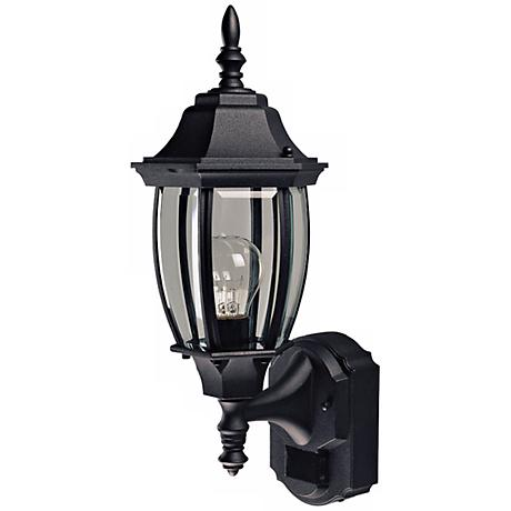 Alexandria Black Motion Sensor Outdoor Wall Light