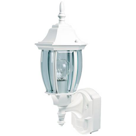 Alexandria White Motion Sensor Outdoor Wall Light