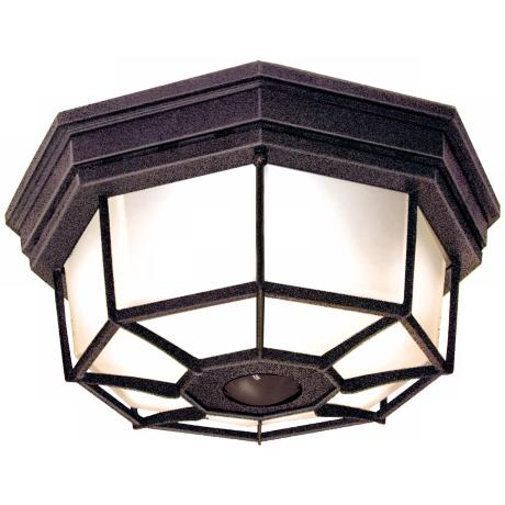 Octagonal Rust Energy Star Indoor - Outdoor Ceiling Light