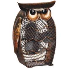 Owl Figurine Decorative Desk Fan
