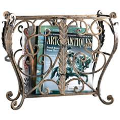 Bronze Openwork Metal Magazine Holder
