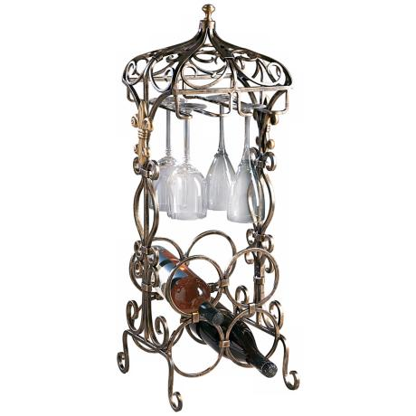 Bronze Openwork Metal Mini Bar