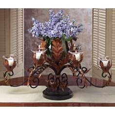 Table Topiary Vase and Candle Holder