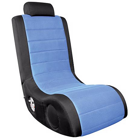 Black and Blue Ergonomic Video Gaming Chair