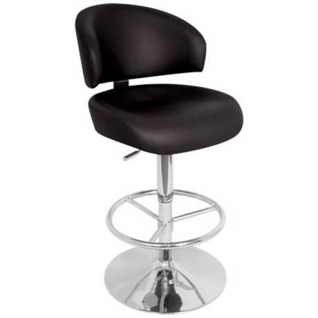 Regeni Black Adjustable Bar Stool or Counter Stool